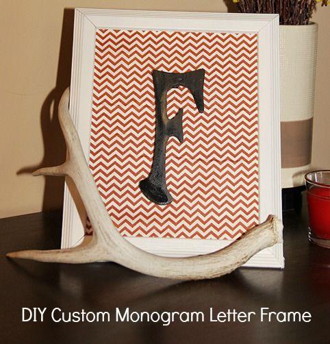 DIY Custom Monogram Letter Frame