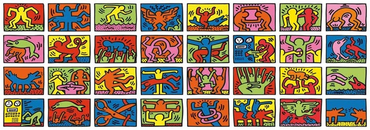 World's largest jigsaw puzzle Double Retrospect by Keith Haring - 32,000 pieces http://www.puzzlefolk.co.uk/catalog/products/8_years/double_retrospect_keith_haring.htm#