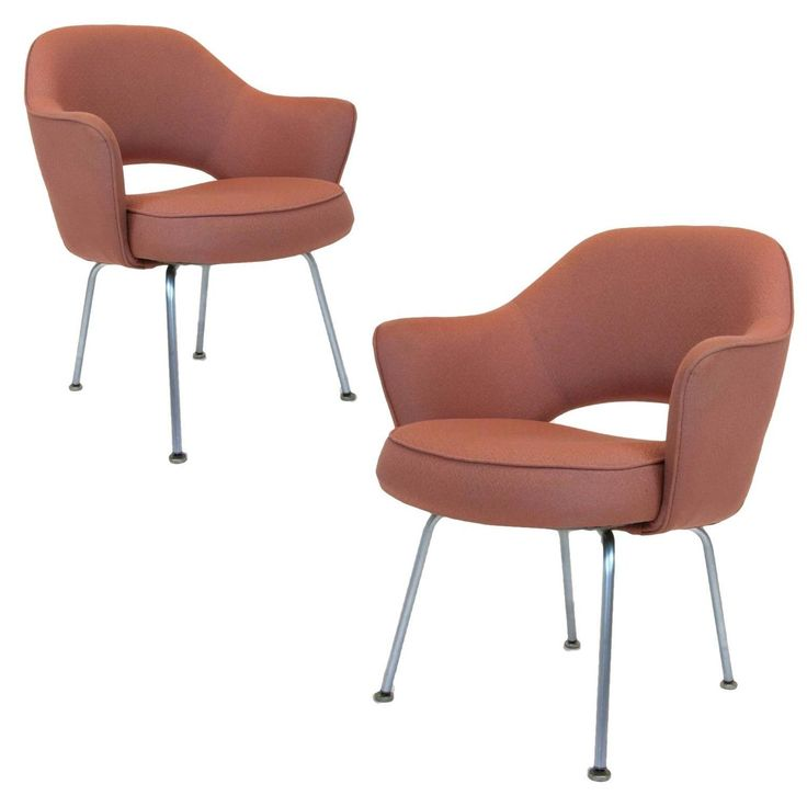 Pair of Eero Saarinen Series 71-Arm Chairs for Knoll | From a unique collection of antique and modern armchairs at https://www.1stdibs.com/furniture/seating/armchairs/