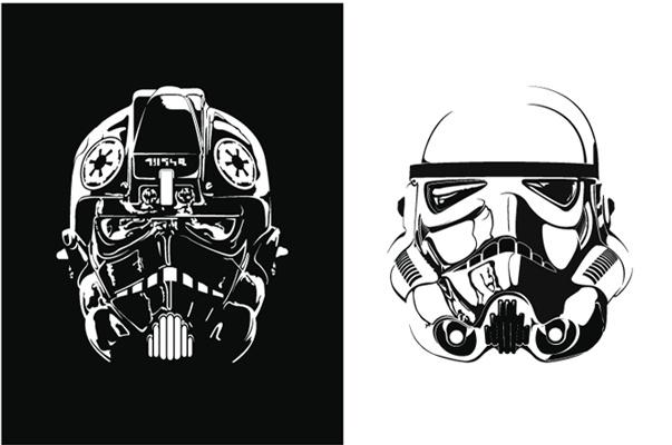 Star Wars Illustrations by Tracie Ching: Starwars Stars, Projects, Screens Prints, Starwars Illustrations, Stars War, Art Prints, Illustrations Stormtroopers, Ching Starwars, Editing Screens