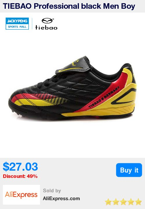 TIEBAO Professional black Men Boy Kids Soccer Cleats Turf Football Soccer Shoes TF Sneakers Trainers New Design football boots * Pub Date: 14:32 Apr 19 2017