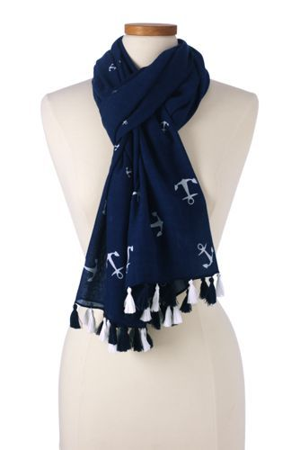 Women's Tossed Anchor Scarf from Lands' End