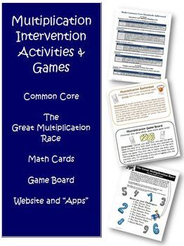 Over 50 pages of Common Core Multiplication Intervention Activities!! $