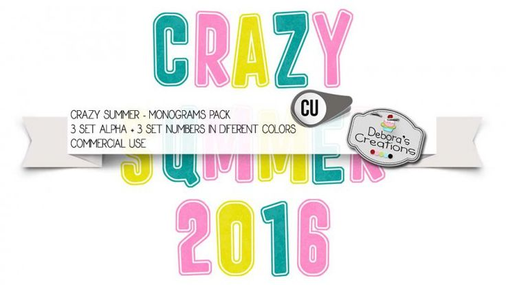 Crazy Summer Monograms Pack by Debora's Creations (CU)