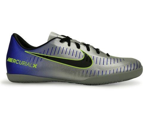 Nike Kids MercurialX Victory 6 Neymar Jr Indoor Soccer Shoes Racer Blue/Black/Chrome/Volt
