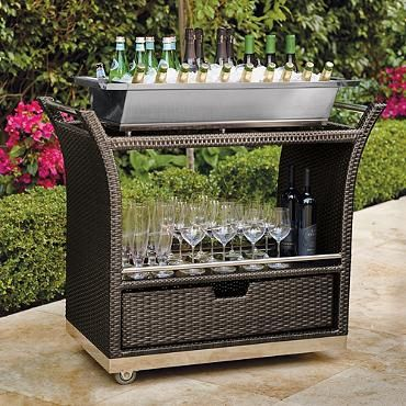 Ultimate Serving Cart - Frontgate from May 2014 Catalog.