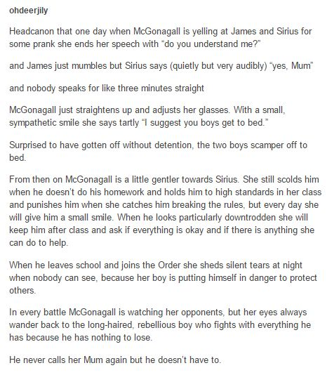 Sirius Black and McGonagall«««No, I didn't need my heart any way
