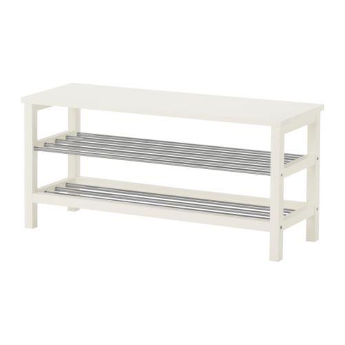Ikea TJUSIG Bench with shoe storage, white $60