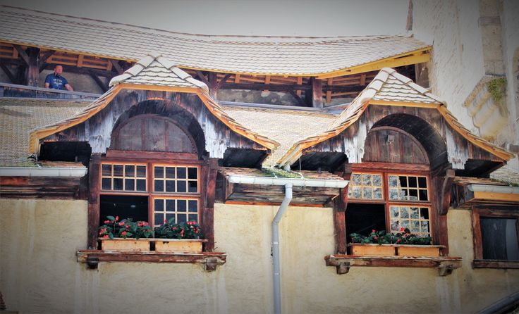 Window dressing at Castle Chillon, Montreux, Switzerland.