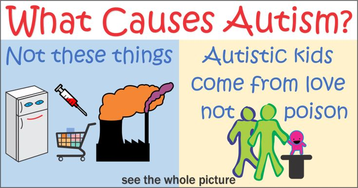 What Causes Autism?  Hint: autistic kids come from love, not poison . See the infographic for the whole story here: https://amongsthumans.com/what-causes-autism