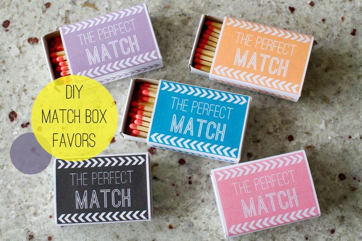 Wedding DIY: Match Box Favors with a Free Download!