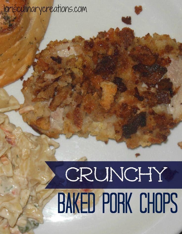 ... Pork, Weeknight Dinner, Crunchy Baking, Baked Pork Chops, Chops