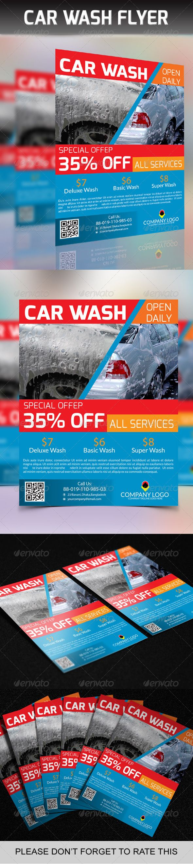 Car Wash Flyer (AI Illustrator, CS3, 8.5x11, business, car, car care, car mats, car wash, car wax, clean, company, corporate, dscount, eps, modern, new, poster, print)