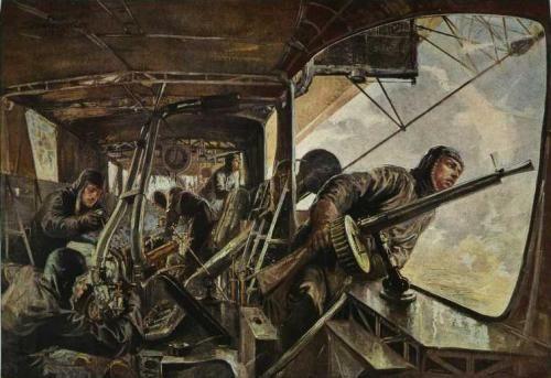 Maschinengondel eines Zeppelin-Luftschiffes - Felix Schwormstädt 1917 - Zeppelin - Wikipedia, the free encyclopedia