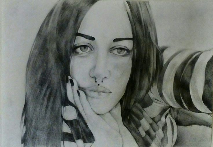 Sketch Potrait on Canson Paper A3 By Artist Mike Eleftheriou Potrait