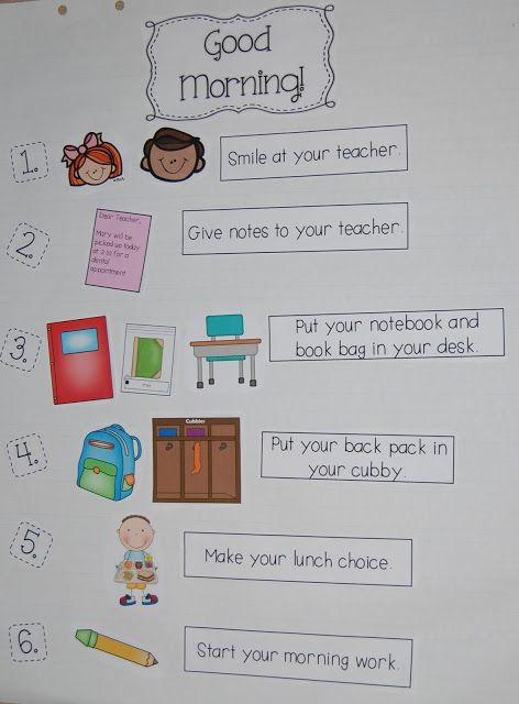 Classroom Design And Routines ~ Best morning routine chart ideas on pinterest kids