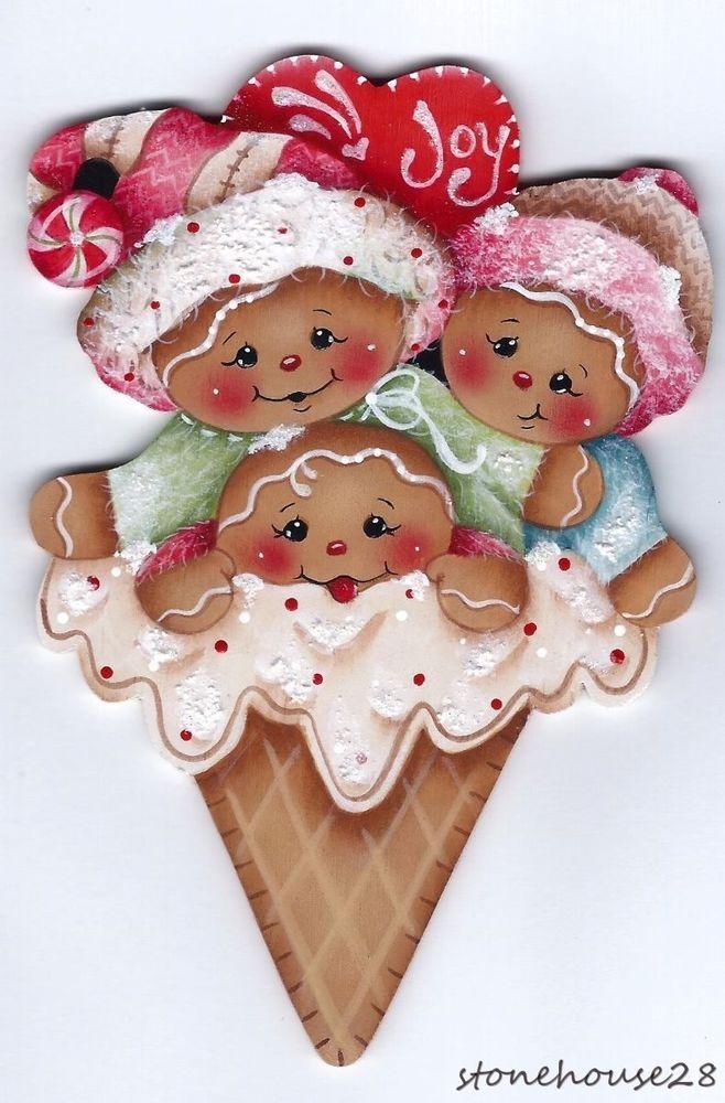 HP GINGERBREAD Ice Cream Cone FRIDGE MAGNET   Artesanías, Piezas de artesanía y acabadas, Artículos pintados a mano   eBay!