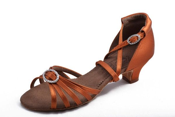 Loops of Dance 607 Dark Tan Satin