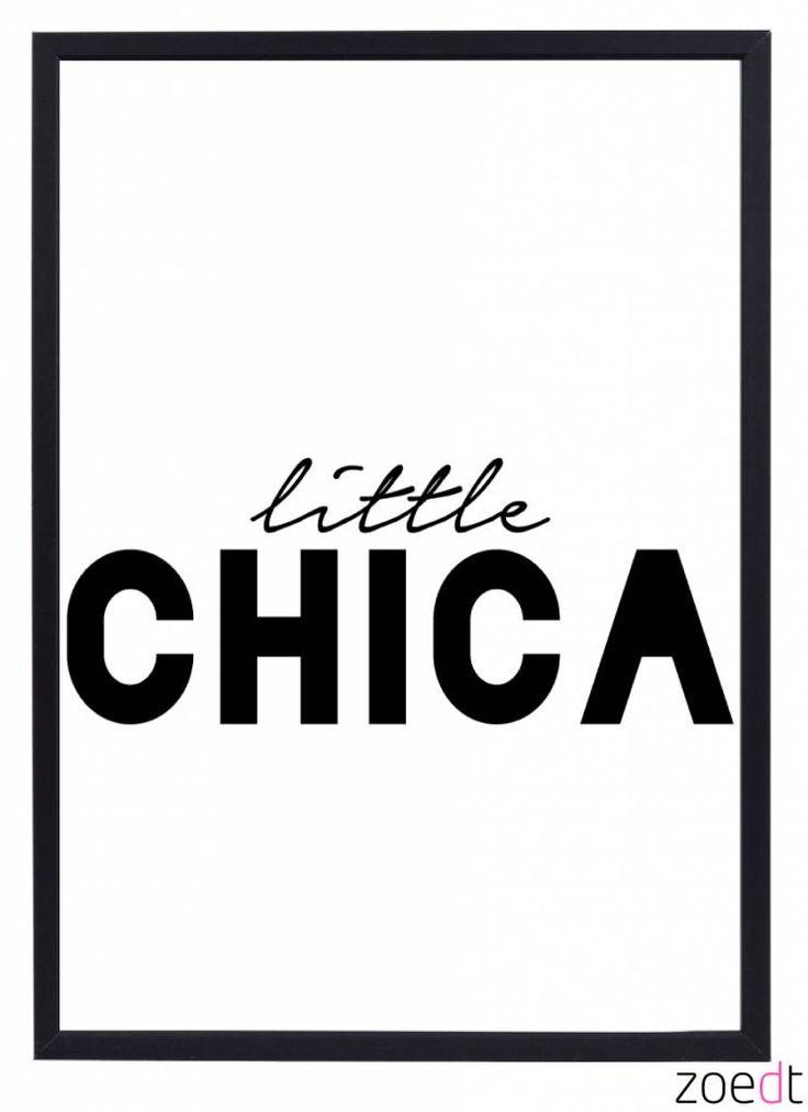 Zoedt Poster kinderkamer Little Chica