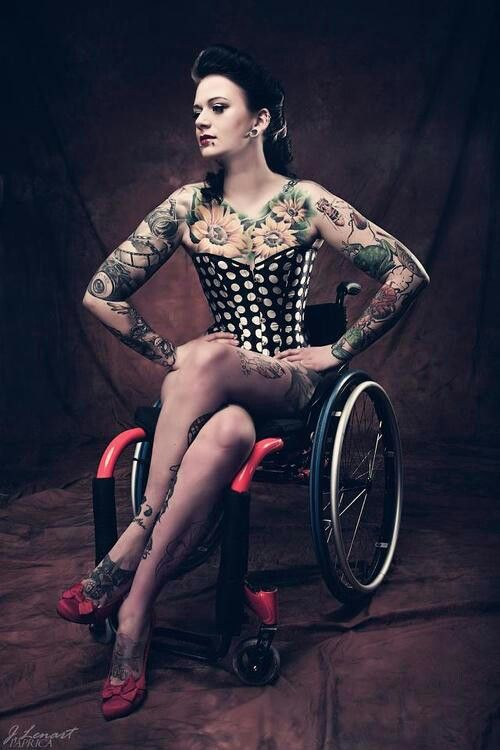 Hot Pin Up In Wheelchair  See It Believe It Do It Watch Thousands Of Sci Videos At -9679