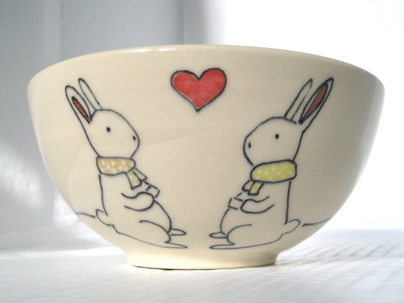 55 best vegan easter basket ideas images on pinterest gift handmade ceramic bowl bunny rabbit bowl by abbyberkson etsy find this pin and more on vegan easter basket negle
