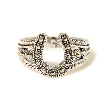 online designer clothes Ladies Marcasite Horseshoe Ring