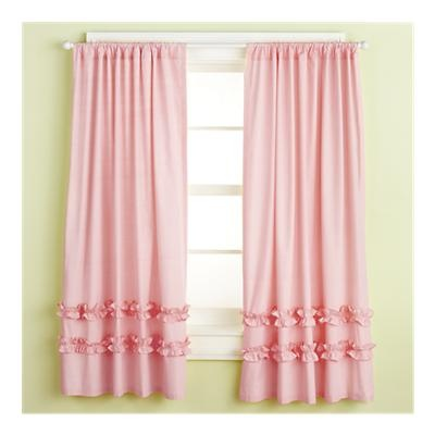 pink ruffle curtains from land of nod
