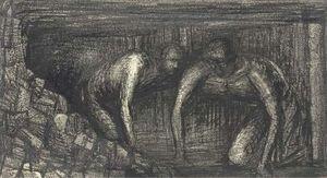 Mineros del Carbón : Henry Moore