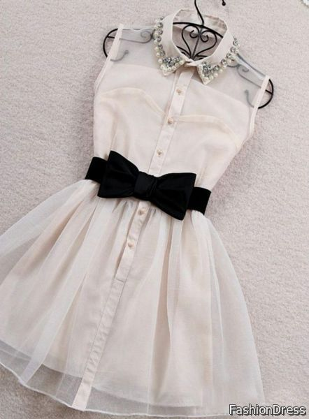 Nice Graduation Dresses For 5th Grade Girls Black And White 2017