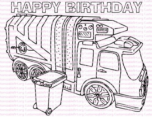 17 best ideas about garbage truck on pinterest community for Garbage truck coloring page