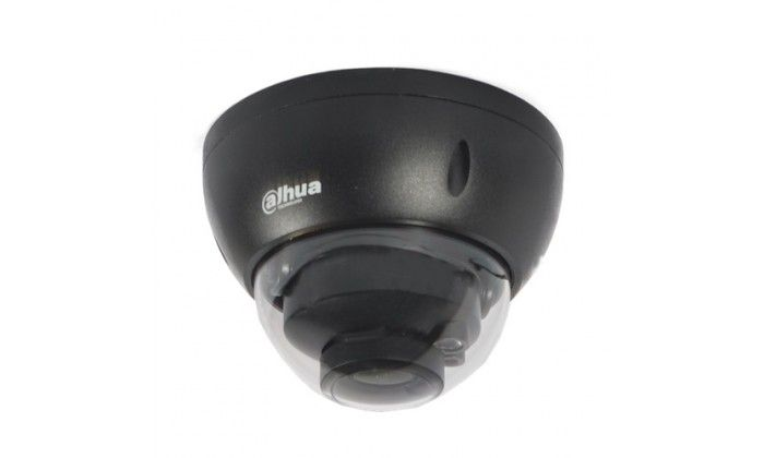 Dahua IPC-HDBW2421R-ZS-DG Full HD 4MP black outdoor dome camera with motorized varifocal lens, IR night vision and SD slot