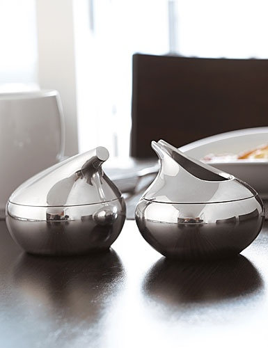 Nambe Metal Kurl Sugar and Creamer - serveware