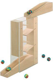 Uitvindingen voor kinderen - Cascade - Knikkerbaan-aanvullingen - Bouwblokken + knikkerbaan - Speelgoed & meubels