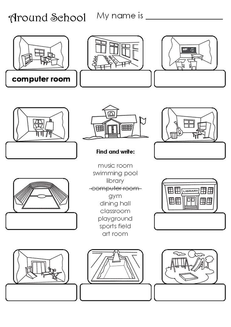 places in the school worksheets buscar con google