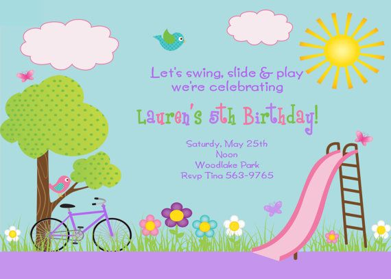 56 best Birthday party ideas images – Playground Birthday Invitations