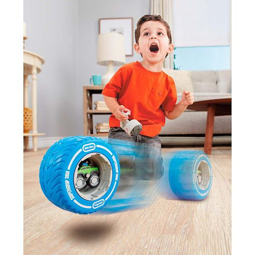 $13 - Tire Twister Minis are perfect for little ones looking for top speed fun. Soft foam design makes it perfect for indoor play. Everett would love ANY of the four different cars (pickup, jeep, etc.)