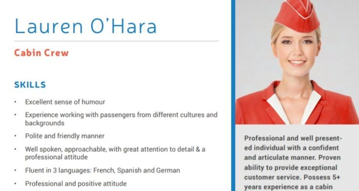 Awesome cv template for cabin crew collection cabin crew