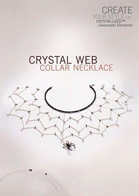 Spider collar necklace designed by @Margot Potter.