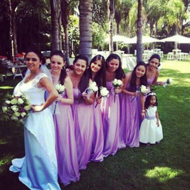 Damas de honor, hermosos vestidos a la medida!! ;)