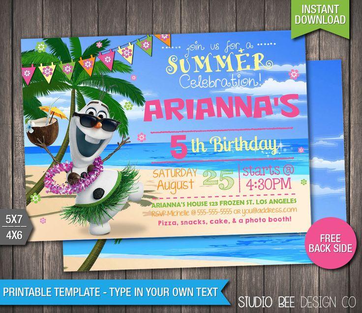 best 25+ frozen birthday invitations ideas on pinterest | frozen, Birthday invitations