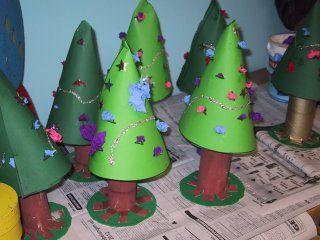 Kerstmis ruimtelijk knutselen » Juf Sanne Xmas craft ideas.