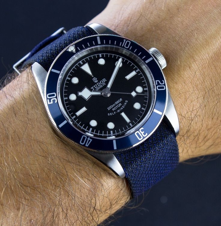 "Tudor Heritage Black Bay Blue Watch Review - by James Stacey - see the pictures, hands-on video, and read more on aBlogtoWatch.com ""The Heritage Black Bay has been a very successful model for Tudor as they reassert their place in the luxury sport watch game. Having only recently returned to the US and the UK, the Black Bay was undoubtedly part of that initiative and has enjoyed both consumer and critical success, including the GPHG Revival Prize in 2013..."""