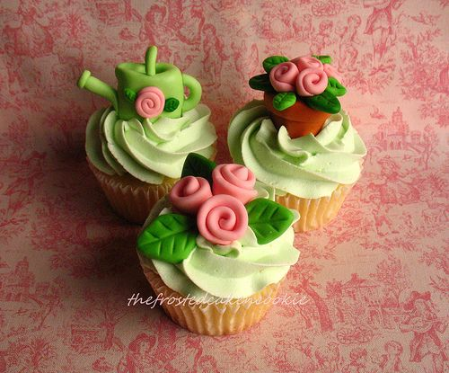cute garden themed cupcakes, have to make