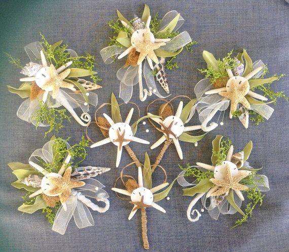 Seashell corsage of various shells ivory by reneeburroughsdesign, $27.00