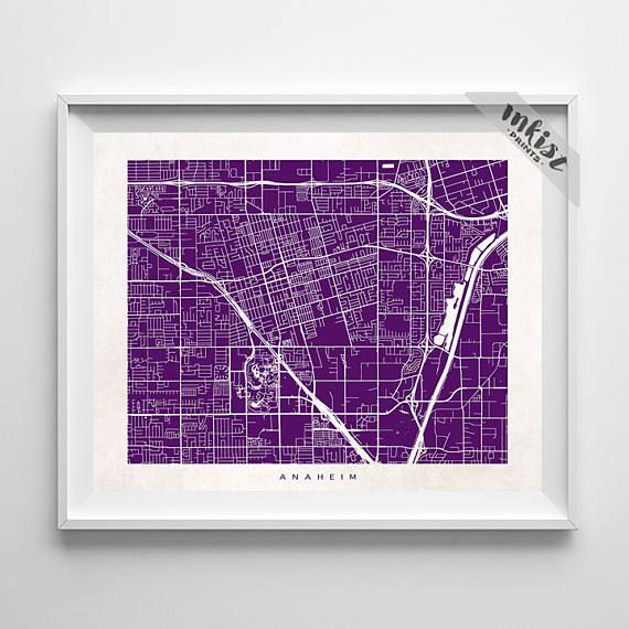 Anaheim Map, California Print, Anaheim Poster, California Art, Decor Idea, Home Town, Giclee Print, Home Decor, Christmas Gift, Wall Art. PRICES FROM $9.95. CLICK PHOTO FOR DETAILS., inkistprints, map, streetmap, giftforher, homedecor, nursery, wallart, walldecor, poster, print, christmas, christmasgift, weddinggift, nurserydecor, mothersdaygift, fathersdaygift, babygift, valentinesdaygift, dorm, decor, livingroom, bedroom