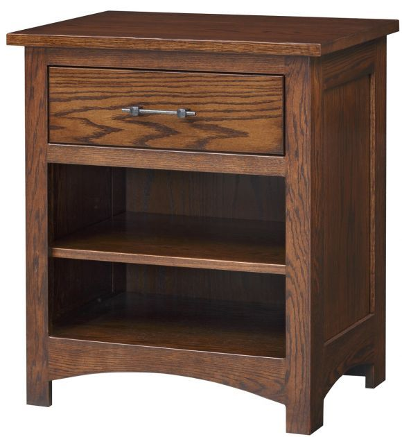 Livonia 1 Drawer Night Table With Images Night Table Amish