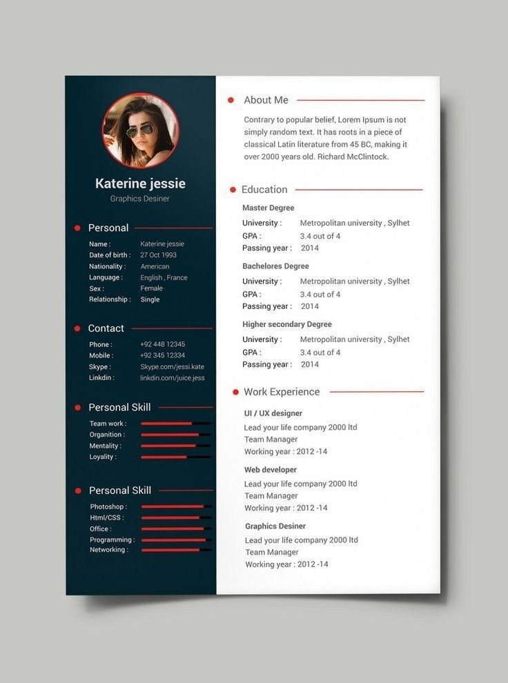 Free Professional Resume Cv Template Psd Eitim Hayat Cv Template Free Free Resume Template Download Best Resume Template