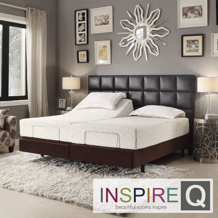 inspire q toddz comfort electric adjustable split king size bed base with wireless remote control by inspire q