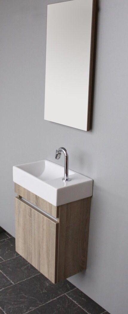 Thebalux toilet meubel in bardoline eiken bij Ennovy badkamers
