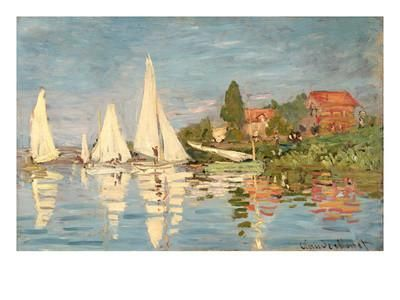 Regatta at Argenteuil, C.1872 Giclee Print by Claude Monet at Art.com